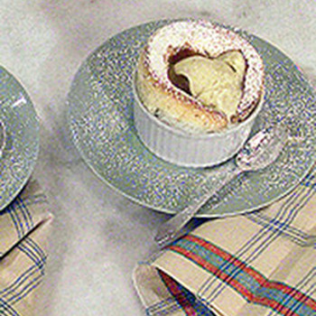 Vanilla Souffle and Ice Cream