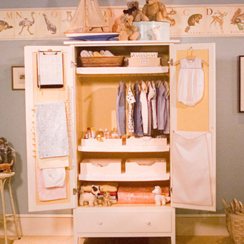 Organizing Baby's Armoire