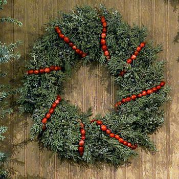 Embellishing a Wreath with Hannah