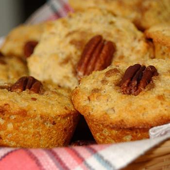 Pecan Cornmeal Muffins