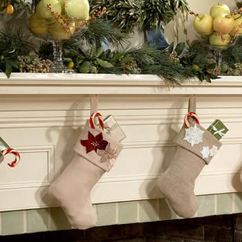 Embossed Velvet Stockings