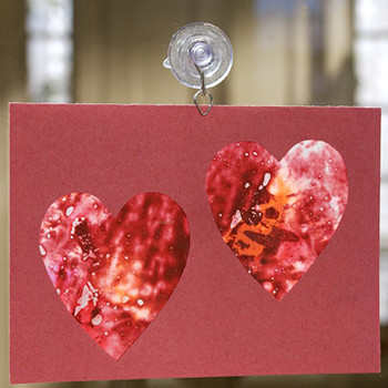 Crayon Stained-Glass Heart Cards