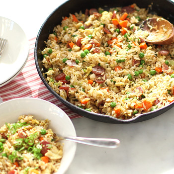 Fried Rice with Chinese Sausage Video