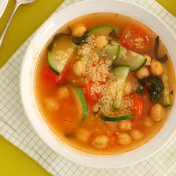 Must Make Soup to Go: Mediterranean Vegetable Soup with Couscous