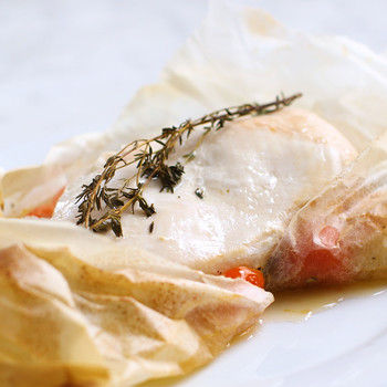 Chicken and Vegetables Baked In Parchment Paper