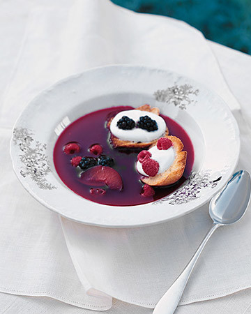 Chilled Plum and Berry Soup