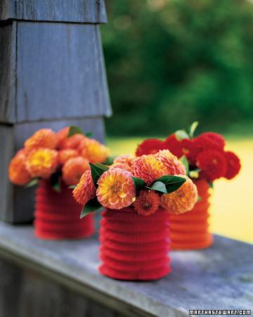 Paper Lantern Vase