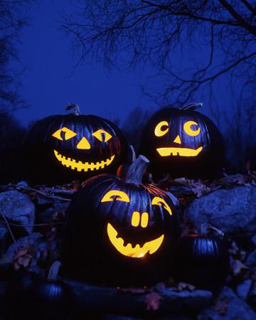 Black-Magic Carved Pumpkins