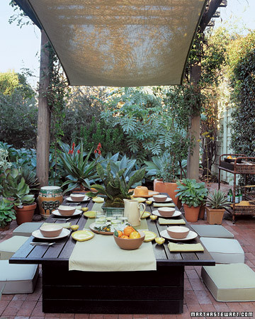 Great use of a pergola for outdoor space