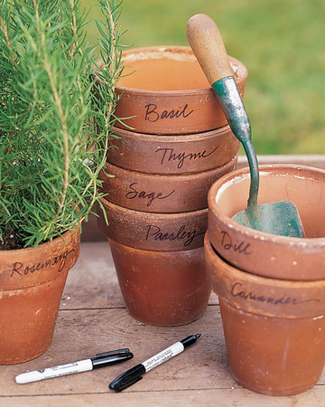 Personalized Herb Pots