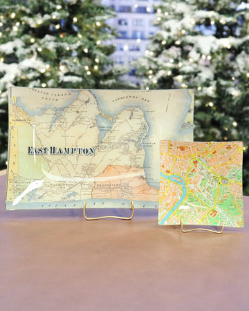 Decoupage Map Tray