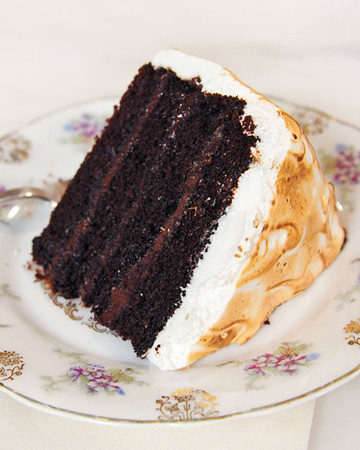 Chocolate Cake with Ganache and Marshmallow Frosting