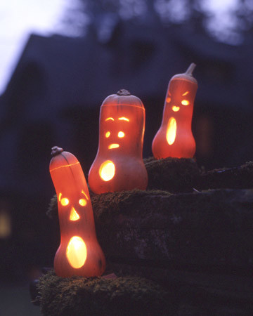 Squash Jack-o'-Lanterns