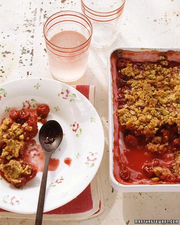 Sour-Cherry Pistachio Crisp