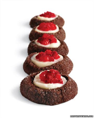 Chocolate-Strawberry Thumbprints