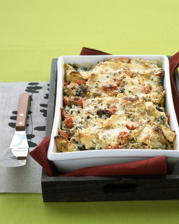 Lasagna with Sausage and Kale