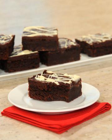Triple-Chocolate Flourless Brownies