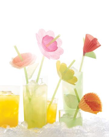Fun Floral Straws