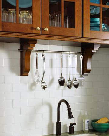 Pierced Corbels: Martha Stewart Living Lily Pond Kitchen