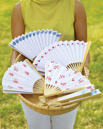 Stamped Paper Fans