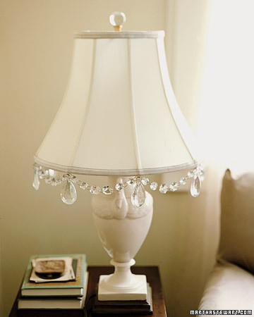 Crystal-Adorned Lamp