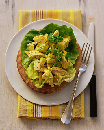 Curried Chicken Salad on Whole-Wheat Pitas