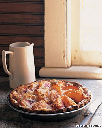 Peach and Creme Fraiche Pie