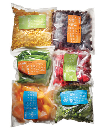 Freezer Storage Labels