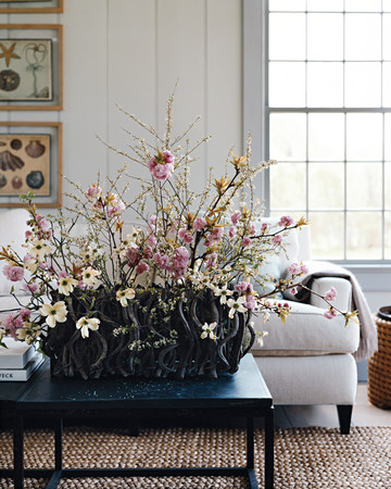 Cherry Blossom and Dogwood Arrangement