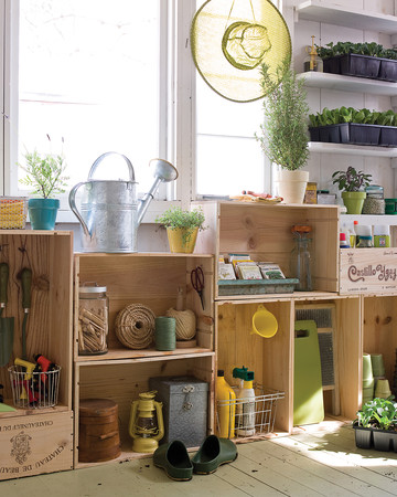 Garden Shed Crate Cabinets