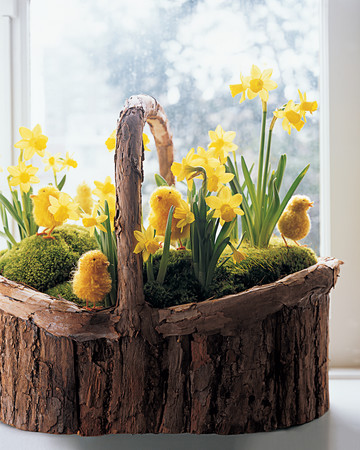 Daffodil and Pom-Pom Chicks Basket