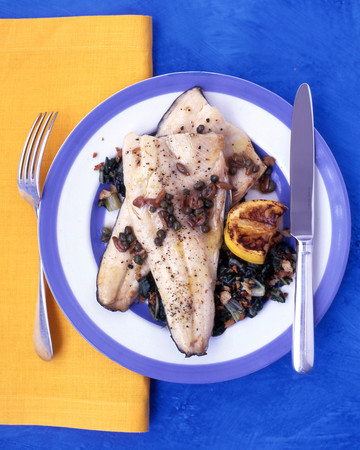 Trout with Olives and Brown Butter