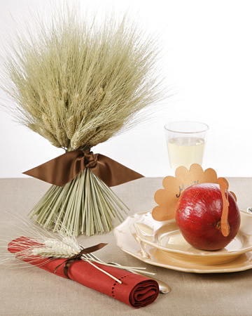 Wheat Sheaf Centerpiece and Napkin Ring