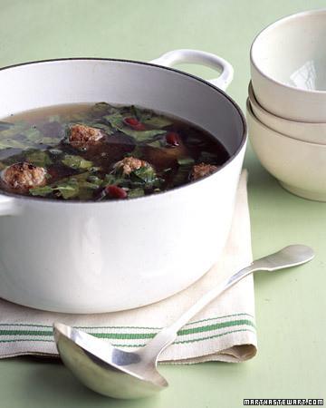 Escarole and Meatball Soup