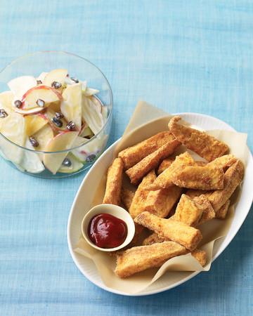 Cornmeal-Crusted Fish Sticks