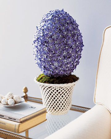 Egg-Shaped Hyacinth Topiary