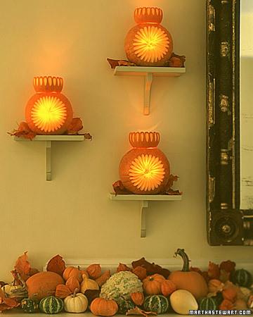 Pumpkin Sconces