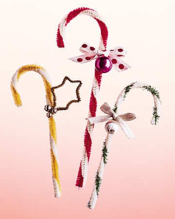 Pipe-Cleaner Candy Cane Ornaments