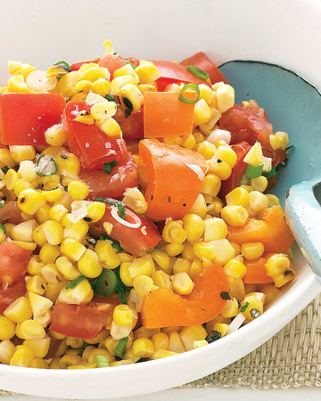 Grilled-Corn and Tomato Salad