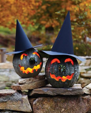 Witch Jack-o'-Lanterns