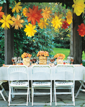 Hanging Paper Flowers