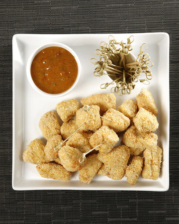 Panko-Crusted Chicken Bites with Apricot-Mustard Sauce