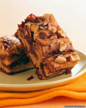 Pumpkin-Swirl Brownies