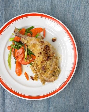 Crispy Mustard Chicken with Carrots