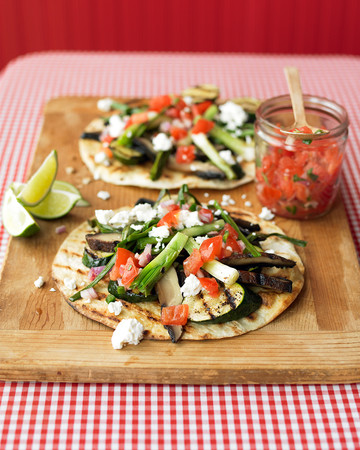 Grilled-Vegetable Tostadas