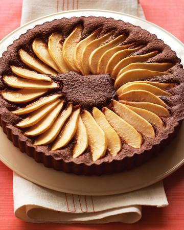 Chocolate-Pear Tart