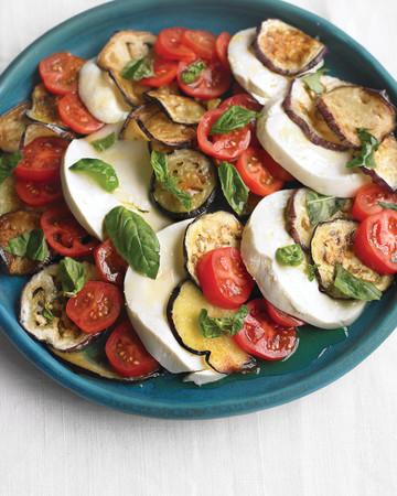 Eggplant, Tomato, and Mozzarella Salad