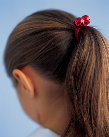 Jingle Bell Ponytail Holders
