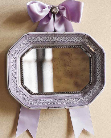 Antique Platter Mirror
