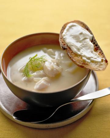 Fish Soup with Lemon Aioli